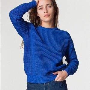 American Apparel Cobalt Blue Knit Sweater Unisex